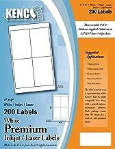 Kenco Premium White Address Shipping UPC Laser/Inkjet Labels Made in The USA (4