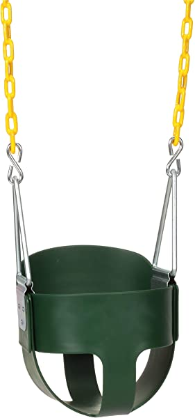 Eastern Jungle Gym Heavy Duty High Back Full Bucket Toddler Swing Seat With Coated Swing Chains Fully Assembled