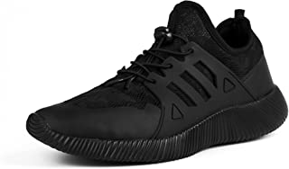 recorrer Snazz Men's Lace-up Casual Black Sneakers Shoes