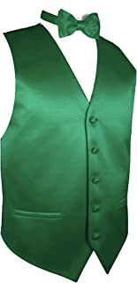 Exclusive Distributor Solid Dress Vest & Bow Tie Set for Suit or Tuxedo