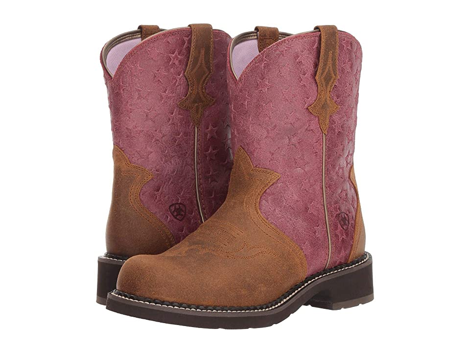Ariat Fatbaby Heritage Trio (Vintage Ginger/Moody Stars) Cowboy Boots