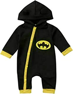 Baby Superhero Jumpsuit with Removable Cape