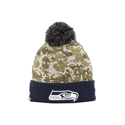 New Era Seattle Seahawks 2015 NFL Sideline Salute to Service Sport Knit Hat 4039a9fefa0