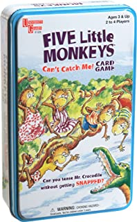 University Games Five Little Monkeys Can't Catch Me Card Game