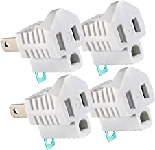 Maximm Polarized Grounding Adapter (4-Pack) White, 2 Prong Grounding Converter For wall Outlets Plugs, Turn 2-Prong Outlets to 3-Prong Outlets, Easy to Install, Indoor Only, ETL Listed