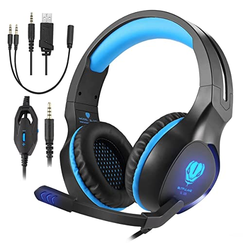09ed4676c9c Butfulake Gaming Headset for Xbox One PS4 PlayStation 4 Nintendo Switch PC  Smartphone, 3.5mm