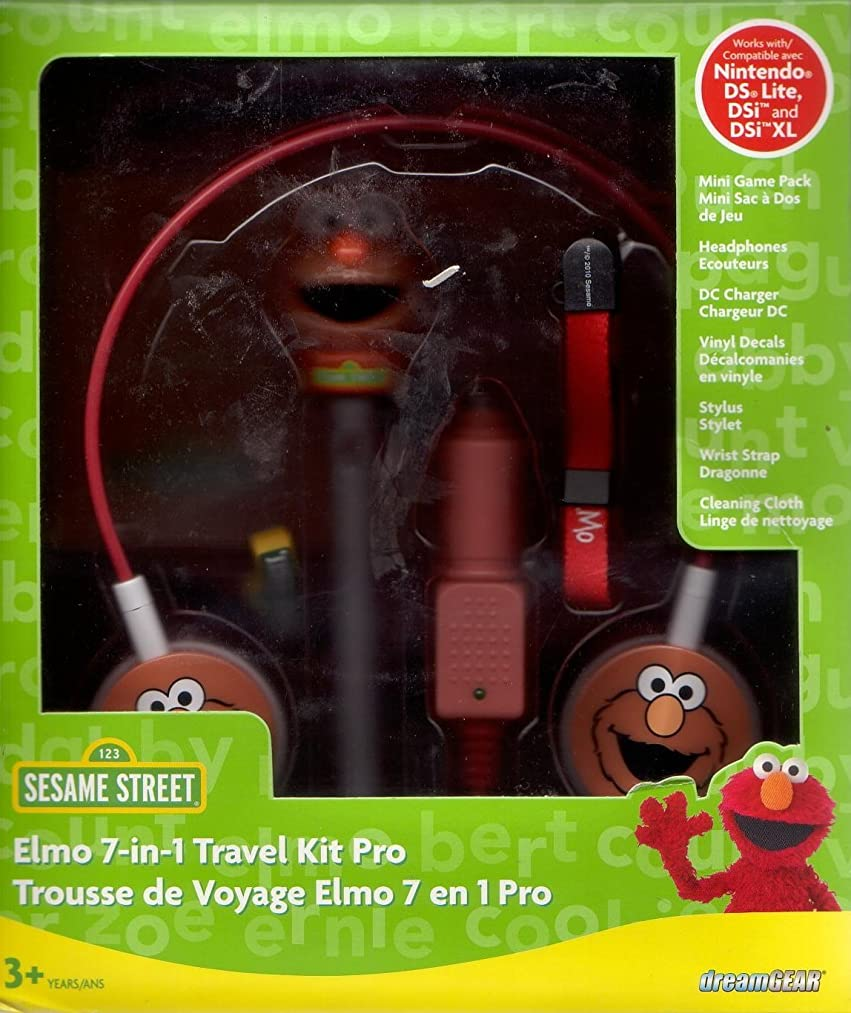 Dreamgear: Elmo 7-in-1 Travel Kit Pro (For Nintendo Ds Lite, Dsi, Dsi Xl)