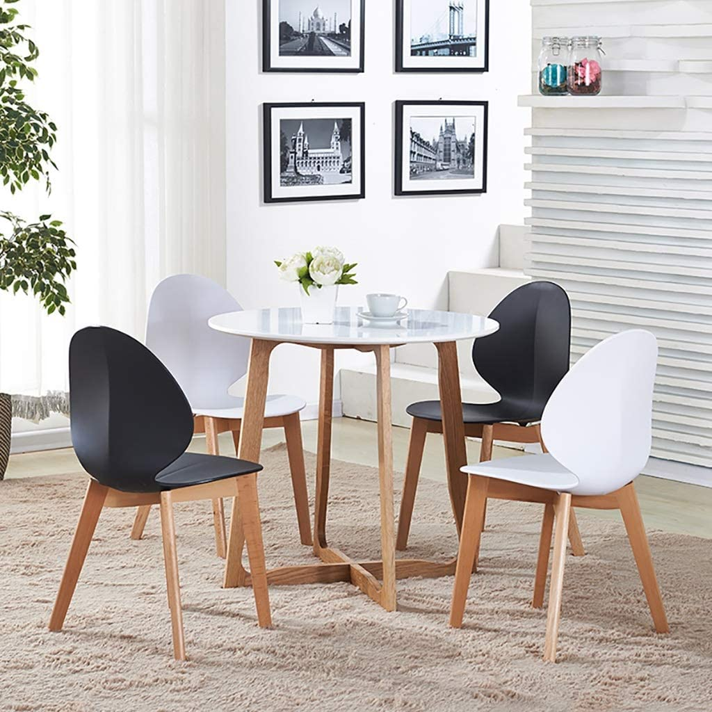 HURONG168 Chaises de cuisine Mode minimaliste moderne à manger chaise café table et chaises en plastique à manger chaise siège lounge (Couleur : Noir) Noir
