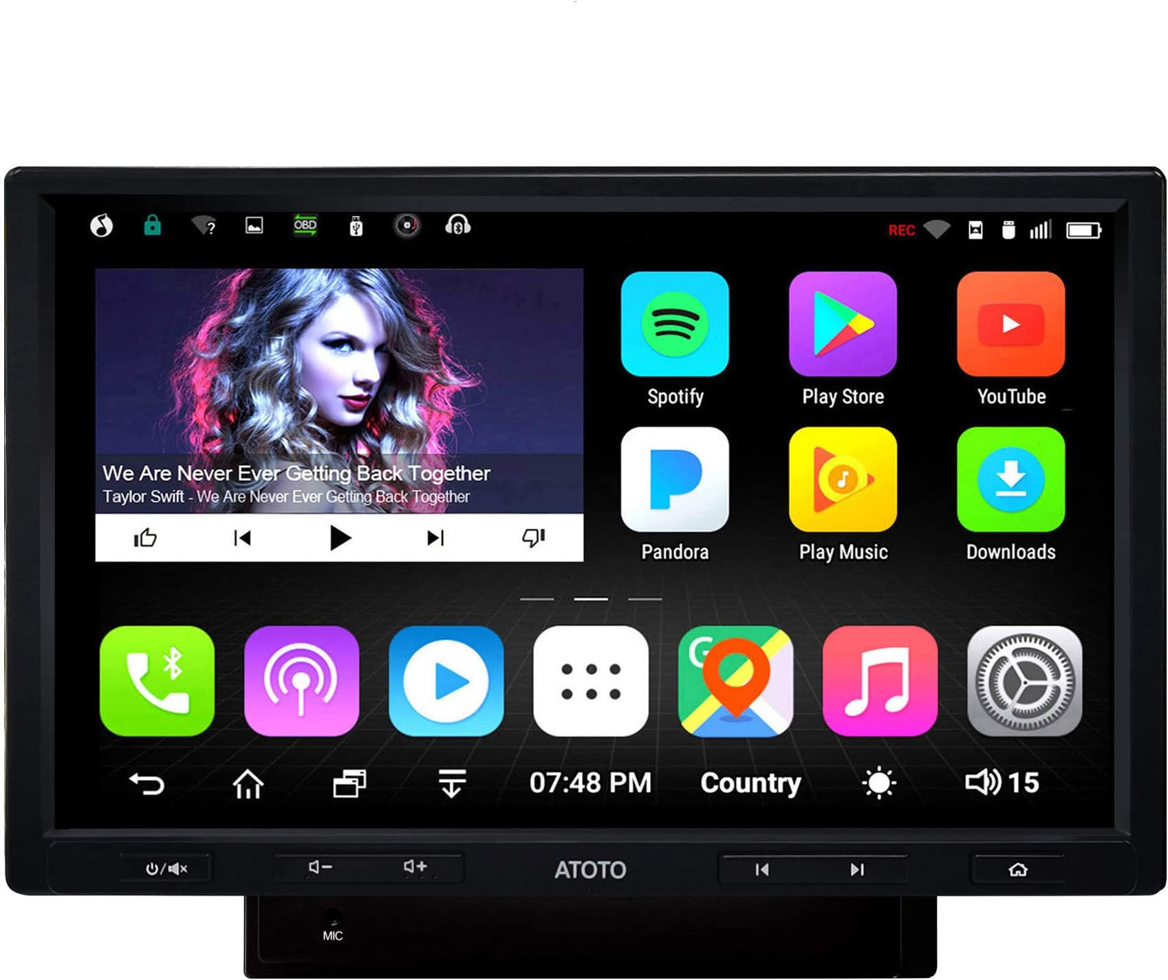 [10inch] ATOTO A6 2DIN Android Car Navigation Stereo with Dual Bluetooth - A6 Standard A6Y1010SB Car Entertainment Multimedia Radio,WiFi/BT Tethering Internet,Support 256G SD &More