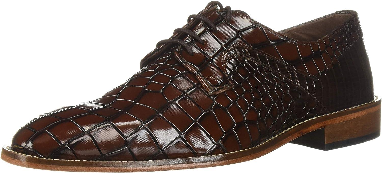 STACY ADAMS Men's Triolo Croc Lizard Print Lace-up Oxford