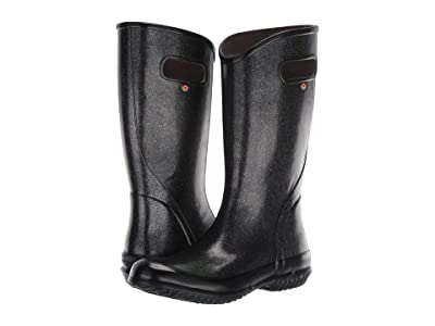 Bogs Rain Boot Glitter (Black) Women