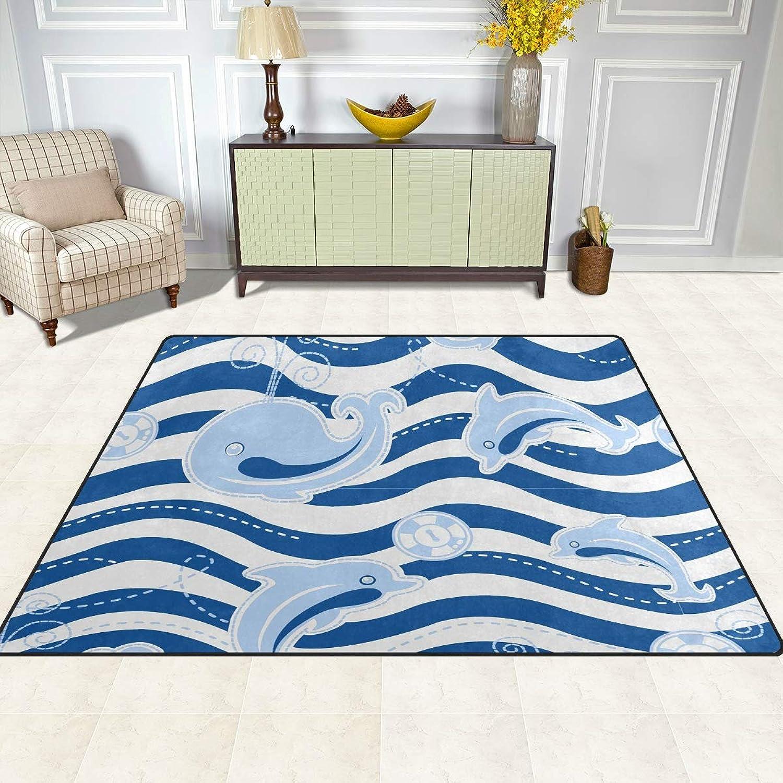 FAJRO Dolphin Wave Rugs for entryway Doormat Area Rug Multipattern Door Mat shoes Scraper Home Dec Anti-Slip Indoor Outdoor
