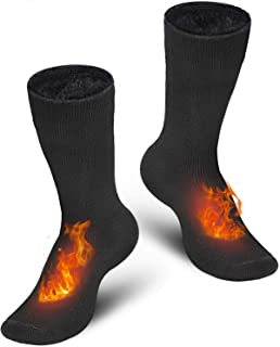Bymore 2 Pairs Thermal Socks for Men,Heated Socks for Women, Warm Thick Winter Socks Insulated Cold Weather