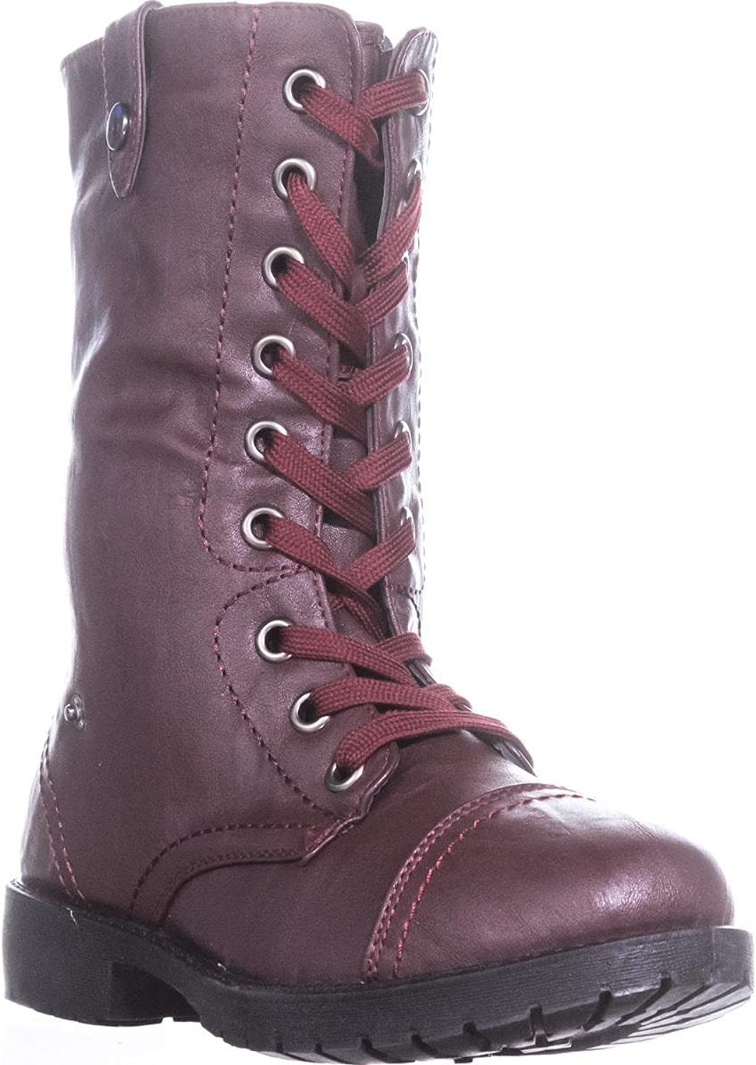 Wanted colorado Knit Combat Boots, Burgundy, 7 US