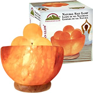 Himalayan Glow 1328 Bowl Salt lamp with Massage Ball