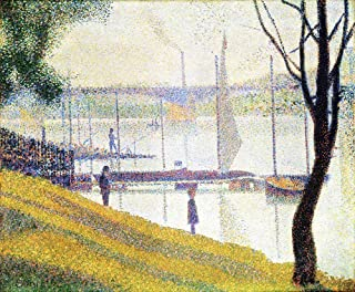 JH Lacrocon Georges Seurat - The Bridge at Courbevoie Canvas Wall Art 60X50 cm(ca. 24X20 inch) - Landscape Paintings Reproduction Print Rolled