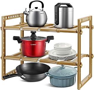Qisiewell Étagère de Rangement sous Évier Rack Organisateur de Support Extensible pour Cuisine Salle de Bain Chambre Salon...