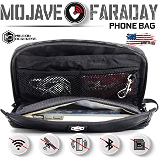 Mission Darkness Mojave Faraday Phone Bag/Multi-Functional Travel case with Accessory Pockets and Built-in Faraday Sleeve/...