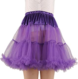 Women's Princess Layered Puff Skirt Mini Tutu Skirt Short Petticoat
