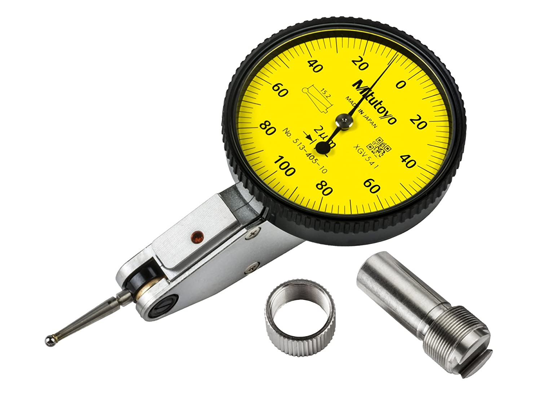 Mitutoyo 513-405-10E DIAL TI, BAS, STD 0.2 mm, 1 μm Precisión, 0.002 mm, Amarillo