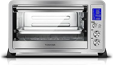 Toshiba Ac25cew-bs Digital four à convection, 6-slice Pain/30,5cm Pizza, Acier inoxydable Noir Numérique 6-Slice Bread/1...