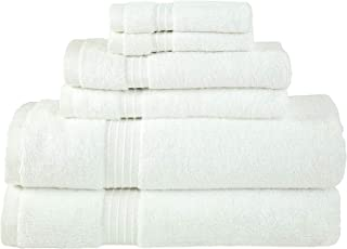 Bliss Casa - 6 Pieces Towel Set - 2 Bath Towels, 2 Hand Towels, and 2 Washcloths, 600 GSM Ring Spun Cotton Highly Absorben...