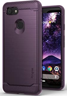 Ringke Onyx Compatible with Pixel 3 Case Extreme Tough Compatible Rugged Flexible Protection Durable Anti-Slip TPU Heavy Impact Shock Absorbent Case for Google Pixel 3 - Lilac Purple