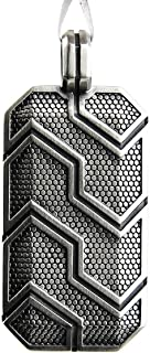 David YURMAN Sterling Silver Forged Carbon Dog TAG New Box Pouch #38T Italy