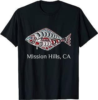 Mission Hills California Halibut PNW Native American Indian T-Shirt