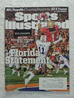 Kevin Benjamin - Florida State Seminoles - 2013 National Champions! - Sports Illustrated - January 13, 2014 - Auburn Tigers (Chris Davis) - College Football - BCS Championship - SI
