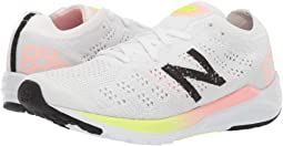 White New Balance Sneaker with Neon Pops of Color