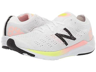 New Balance 890V7 (White/Guava Glo) Women