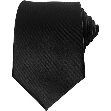 Mens Silk Tie Solid Formal Necktie