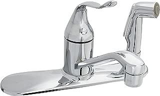 Kohler K-P15173-F-CP Coralais Single-Control Kitchen Faucet with Sidespray Through Escutcheon, Polished Chrome