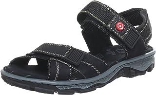 Rieker 68851 dames Open sandalen met sleehak.