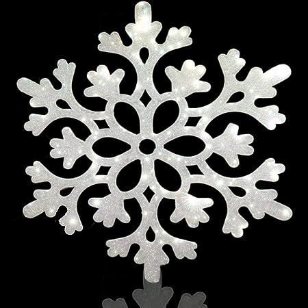 12-112-VA-226 Black and White Snowflake Printed Grosgrain