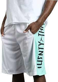 Jordan Mens Retro 11 Basketball Shorts White/Emerald AO8950 101 (XX-Large)