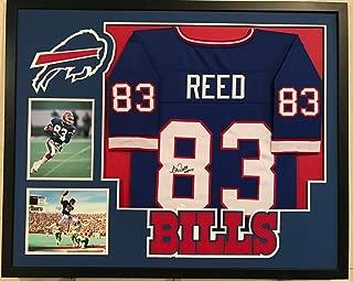 Andre Reed Autographed Signed Custom Framed Buffalo Bills Jersey 'HOF14' - JSA Authentic