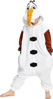 NEWCOSPLAY Kids Plush One Piece Cosplay Onesies Costume (95, Olaf)