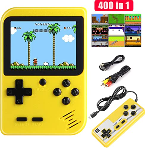 Diswoe Handheld Game Console, Portable Retro Game Player With 400 Classical FC Games 2.8-Inch Color Screen Handheld G...