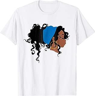 African American Head Wrap Turban Scarf Natural Hair T Shirt