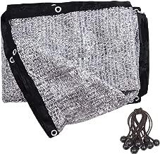 soclerg 70% Aluminet Shade Cloth 6.5 ft x 10 ft-Fabric Sun Block Sun Reflect-FREE 12pcs 6