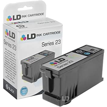 4 Pack 600 Pages 330-5287 Black High Yield Ink Cartridge Replacement for Dell P713w V715w Printers Smart Print Supplies Compatible 24 Series T109N