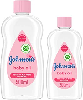Johnson's Baby Oil, 500 ml with 200 ml - Pack of 1