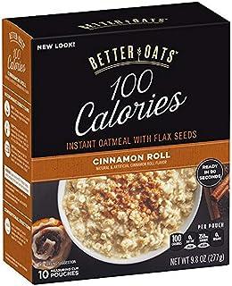 Better Oats, Insant Oatmeal with Flax, Cinnamon Roll, 9.8 Oz