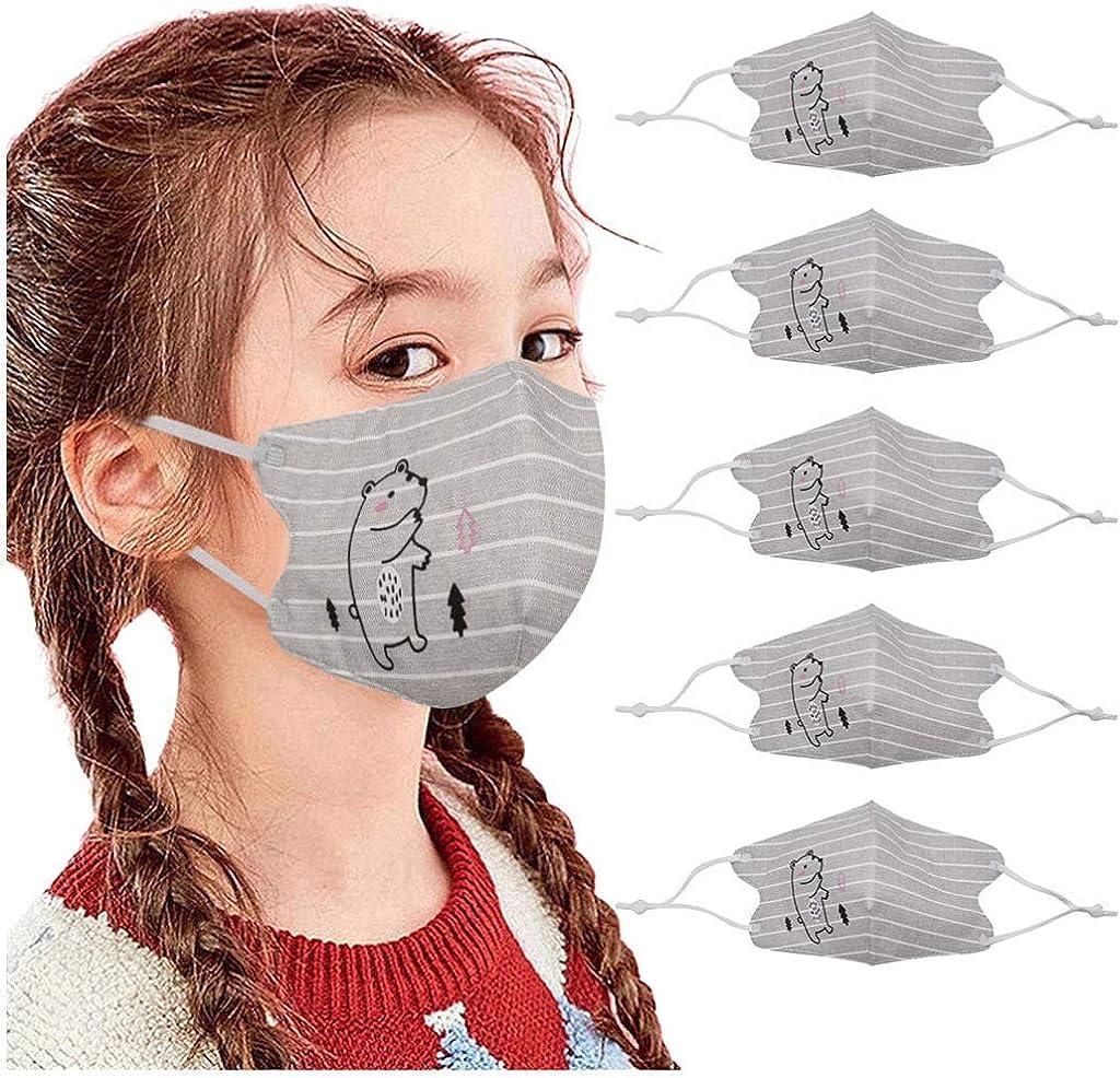 SUGUJU 5Pcs Beautiful Print Popular brand in the world Kids Children F Cotton Mouth Max 58% OFF Outdoor