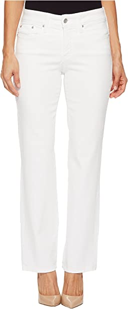 NYDJ Petite Petite Marilyn Straight in Optic White