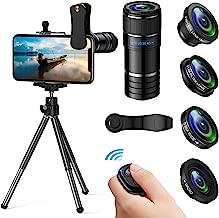 Phone Camera Lens, 5 in 1 iPhone Camera Lens Kit - 12x...