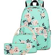 BLUBOON School Backpack Set Teen Girls Bookbags 15 inches Laptop Backpack Kids Lunch Tote Bag...