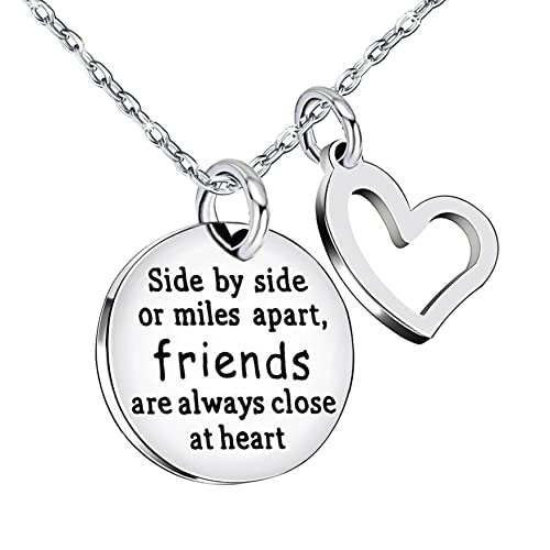 BBF Best Friend Necklace Double Pendant Friendship Gift Friends are always close at heart Stainless Steel